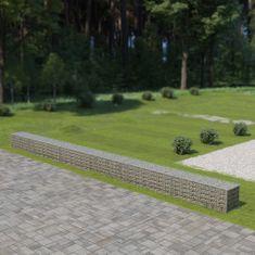 Vidaxl Gabionová zeď s víky z pozinkované oceli 900 x 50 x 50 cm