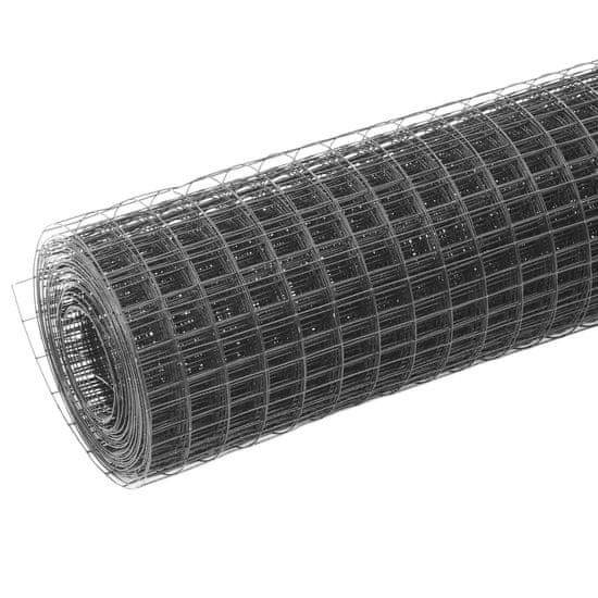 shumee Žična mreža za ograjo jeklo s PVC oblogo 10x1 m siva