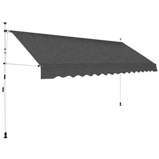 slomart Ročno zložljiva tenda 400 cm antracitna