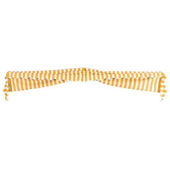 shumee Bistro tenda 350x120 cm oranžna in bela