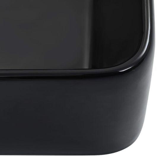 shumee Umivalnik 40x30x13 cm keramičen črn