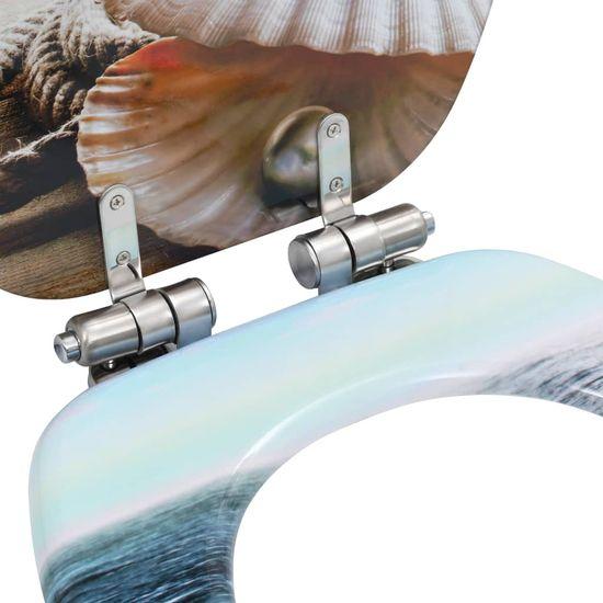 shumee 2 db kagylómintás MDF WC-ülőke lassan csukódó fedéllel