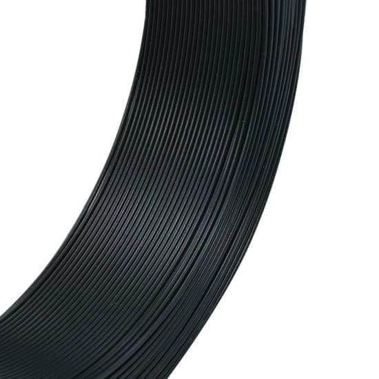 shumee zöldesfekete acél kerítésösszekötő drót 250 m 2,3/3,8 mm