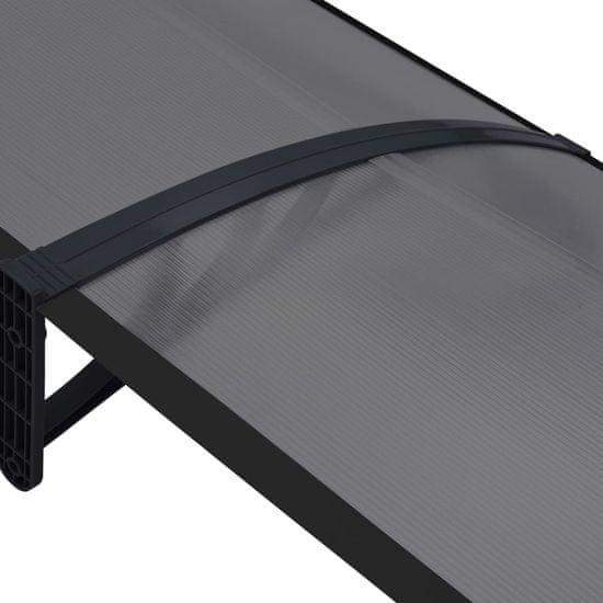 shumee Daszek nad drzwi wejściowe, czarny, 300 x 80 cm, PC