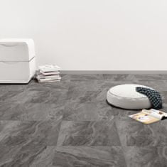 shumee Samolepící podlahové desky PVC 5,11 m² černé vzorované