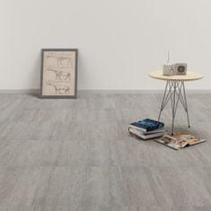 shumee Samolepící podlahové desky PVC 5,11 m² šedé tupované