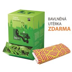 London Tea Company Fairtrade zelený čaj Sencha s tropickým ovocem Tropical Green 250ks + bavlněná utěrka zdarma