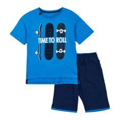 Garnamama chlapčenské tričko a šortky 104 modrá