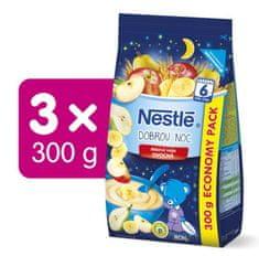 Nestlé Mliečna kaša Ovocná na dobrú noc 3x300g