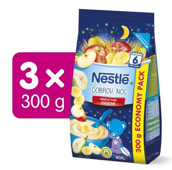 Nestlé Mléčná kaše Ovocná na dobrou noc 3x300g