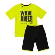 Garnamama chlapecké tričko a šortky 104 černá/zelená