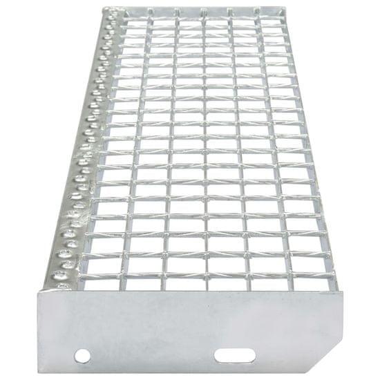 shumee 4 db kovácshegesztett horganyzott acél lépcsőfok 600 x 240 mm