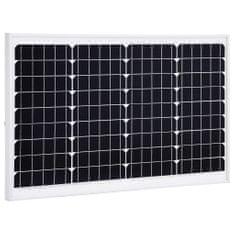 shumee Solárny panel hliník a bezpečnostné sklo 40 W monokryštalický