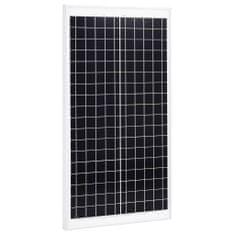 shumee Solárny panel hliník a bezpečnostné sklo 30 W polykryštalický