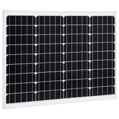 shumee Solárny panel hliník a bezpečnostné sklo 50 W monokryštalický