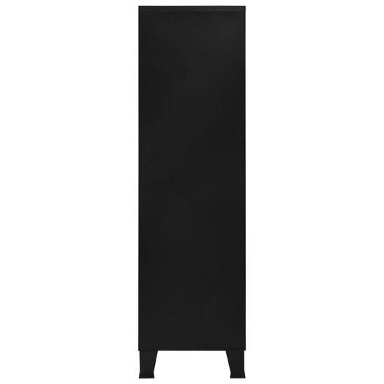shumee Szafa w stylu industrialnym, czarna, 90x40x140 cm, stal