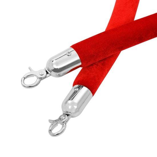 shumee Sznur do słupków odgradzających, czerwono-srebrny, aksamitny