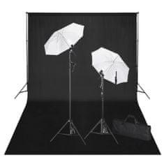 shumee Zestaw do studia fotograficznego: czarne tło 6 x 3 cm i światła