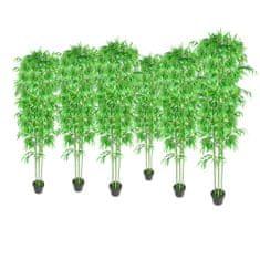 shumee Umetni Bambus / Dekorativne Rastline Set 6 kosov