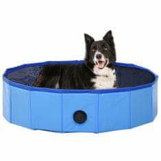 Greatstore Skládací bazén pro psy modrý 80 x 20 cm PVC