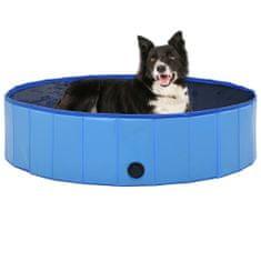 shumee Zložljiv bazen za pse moder 120x30 cm PVC