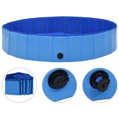 shumee Zložljiv bazen za pse moder 160x30 cm PVC