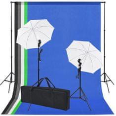 shumee Sprzęt do studia fotograficznego: tło 5 kolorów i 2 parasolki