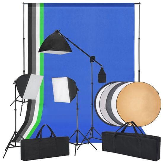 shumee Studio fotograficzne z softbox, tłami i blendą fotograficzną