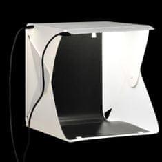 shumee Składany lightbox studyjny z lampami LED, 23x25x25 cm, biały