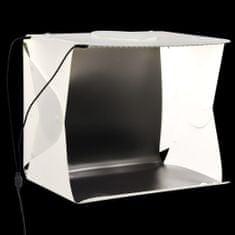 shumee Składany lightbox studyjny z LED, 40x34x37 cm, plastik, biały