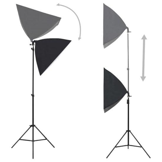 shumee Komplet za fotografski studio s softbox svetilkami in ozadjem