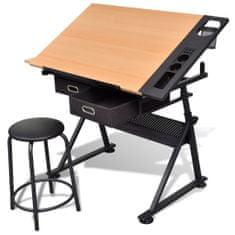 shumee Stôl na kreslenie Draftsmen so sklopnou doskou a stoličkou