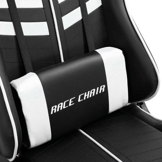 shumee Gaming stol belo umetno usnje