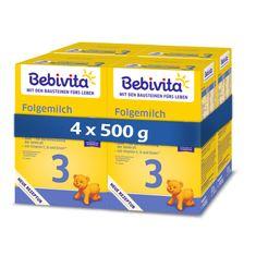 Bebivita Mléko 3 inst.pokračovací MKV od uk. 9. měsíce 4x 500g