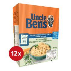 Uncle Ben's dolgozrnati riž, 10 min, 12 x 1 kg