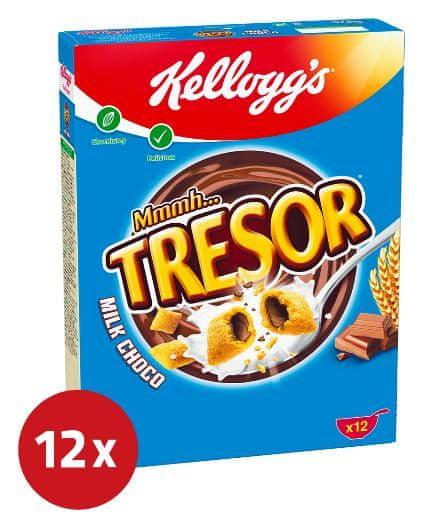 KELLOGG'S Tresor Milk Choco kosmiči, 12 x 375 g
