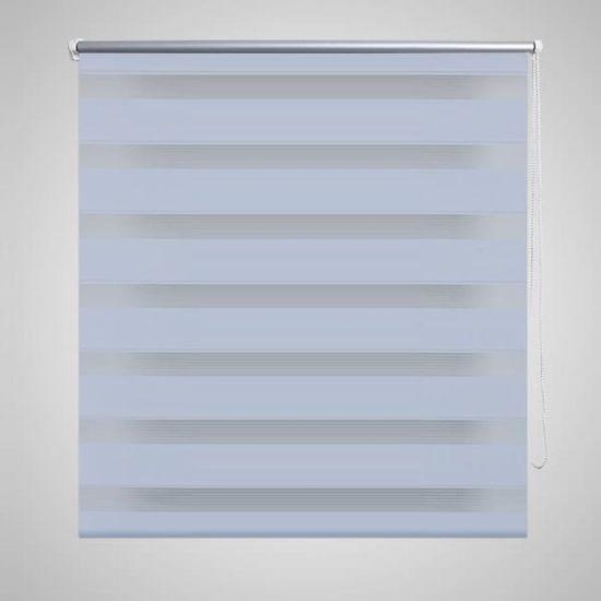 shumee Črtasti Zebra Rolo / Senčilo velikost 80 x 175 cm Bela barva