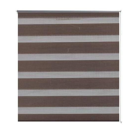 shumee Črtasti Zebra Rolo / Senčilo velikost 50 x 100 cm Kavna barva