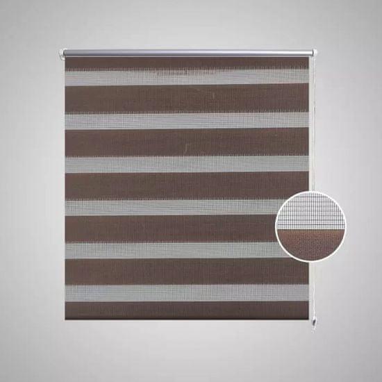 shumee Črtasti Zebra Rolo / Senčilo velikost 70 x 120 cm Kavna barva