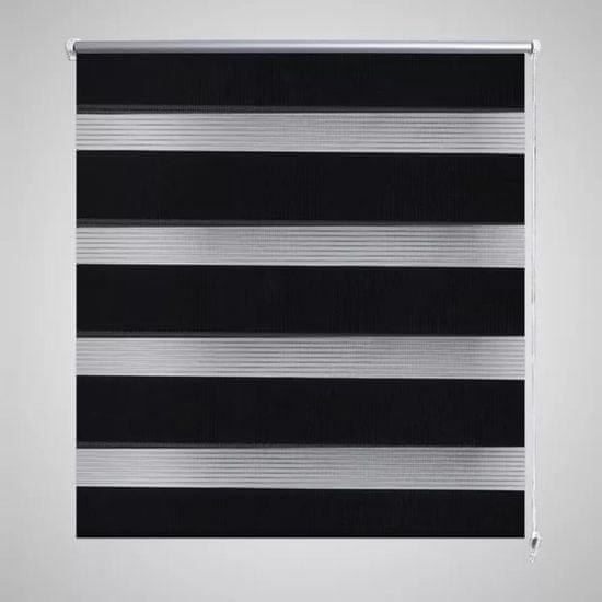 shumee Črtasti Zebra Rolo / Senčilo velikost 90 x 150 cm Črna barva