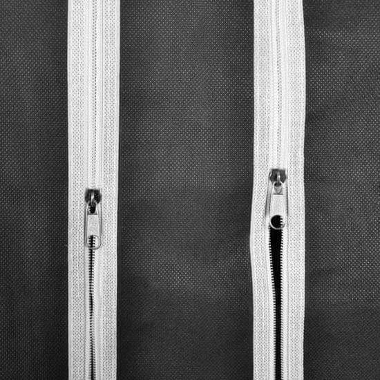shumee Szafa materiałowa z przegrodami i drążkiem na wieszaki, czarna