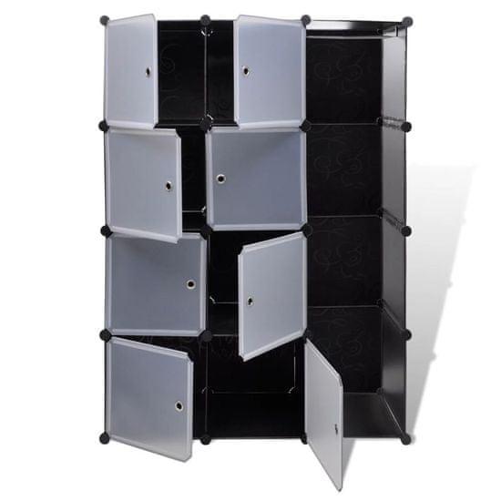 shumee Szafa modułowa z 9 przegrodami, 37x115x150 cm, czarno-biała