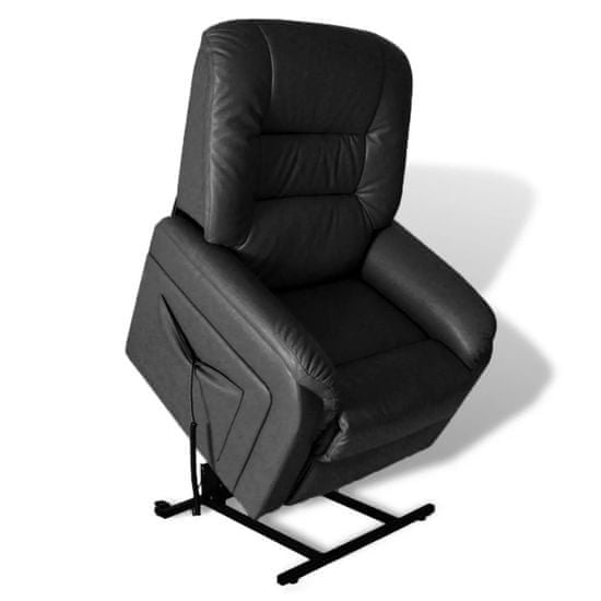 shumee fekete dönthető műbőr TV-fotel