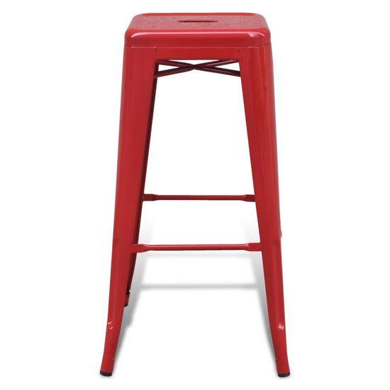 shumee Barski stolčki 2 kosa rdeče jeklo