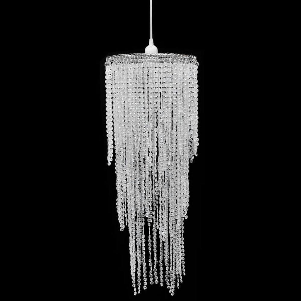 Křišťálový lustr - 26 x 70 cm