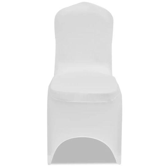 shumee Raztegljive prevleke za stole 100 kosov bele barve