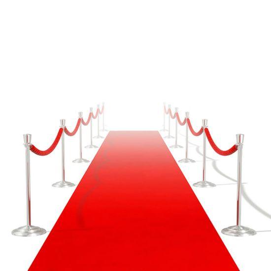 shumee Červený koberec 1 x 5 m, extra těžký 400 g/m2