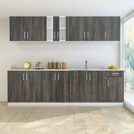 shumee komplet kuhinjske omare 8 kosov Barva lesa Wenge