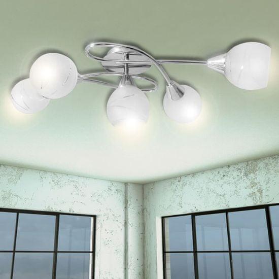 shumee Mennyezeti Lámpa Üveg Árnyak 5 E14 Izzók