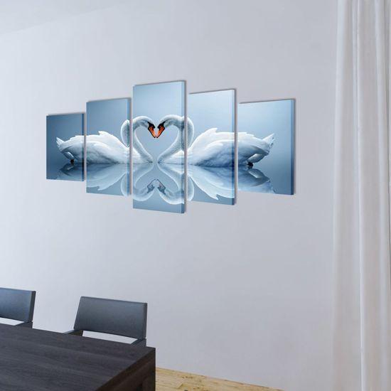 shumee Vászon falikép szett hattyú 100 x 50 cm